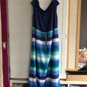 Cinch Waist Maxi Dress